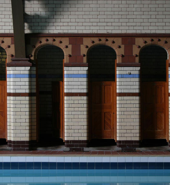 Woodock Street's unusual poolside cubicles