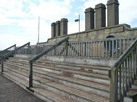 One of only two 19th century rooftop viewing areas known in British racing
